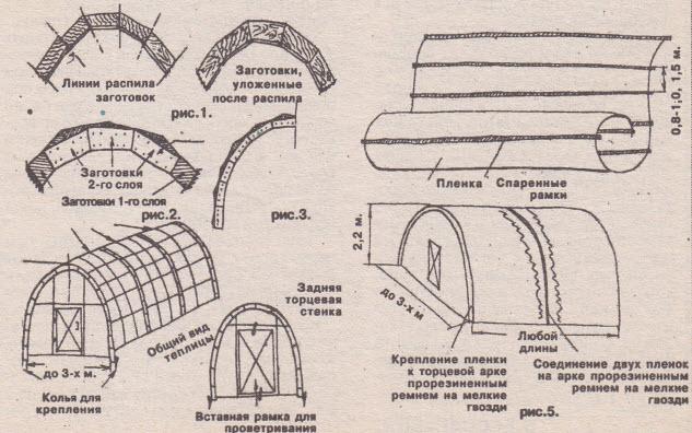 Арочная деревянная теплица своими руками чертежи