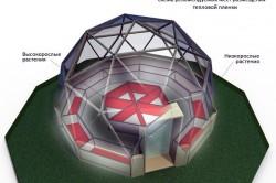Расположение грядок в купольной теплице
