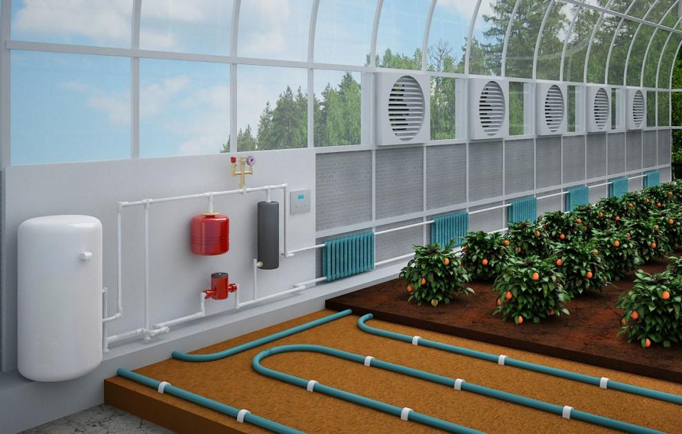 Система отопления теплицы