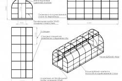Схема каркаса для теплицы из металлопрофиля