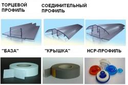 Виды профилей для теплицы из поликарбоната