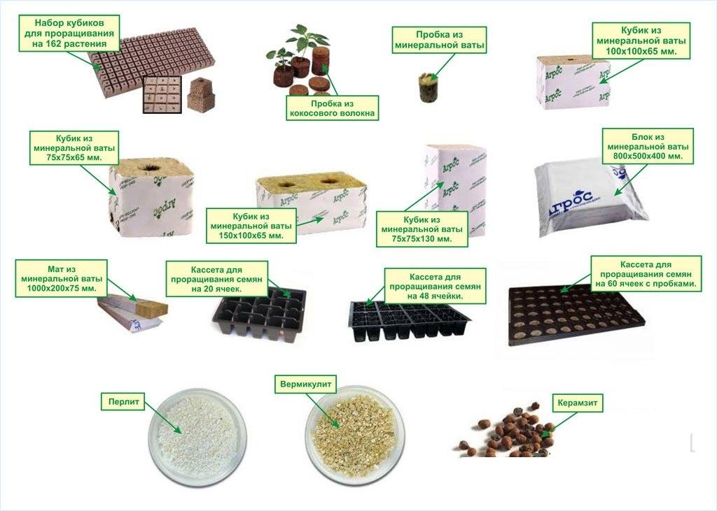 материалов для гидропоники