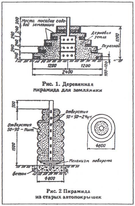 Схема устройства пирамиды для