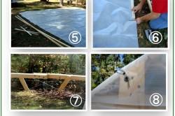 Этапы сборки и покрытия теплицы нетканым материалом