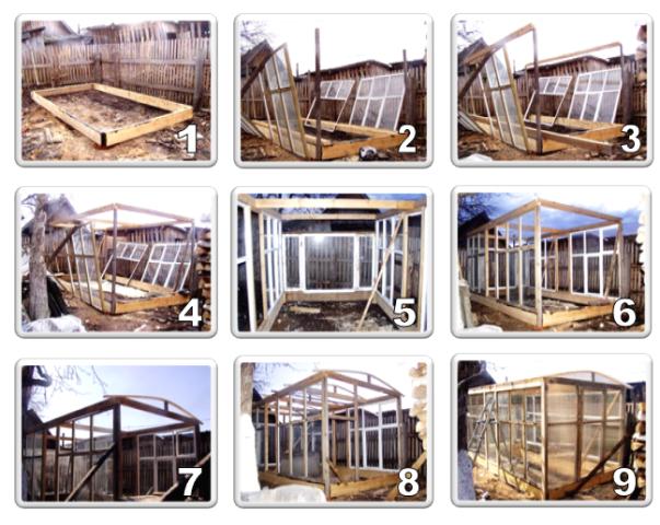 Этапы сборки деревянной