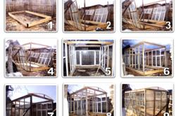 Этапы возведения каркаса деревянной теплицы