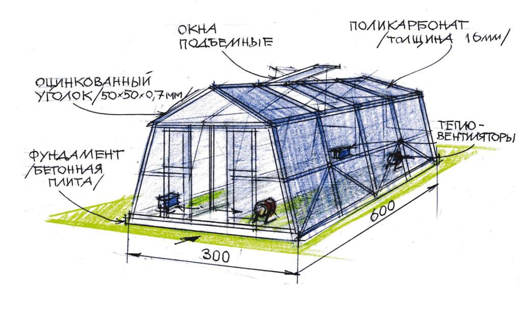 Технология постройки теплицы