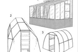 Разнообразные конструкции теплиц