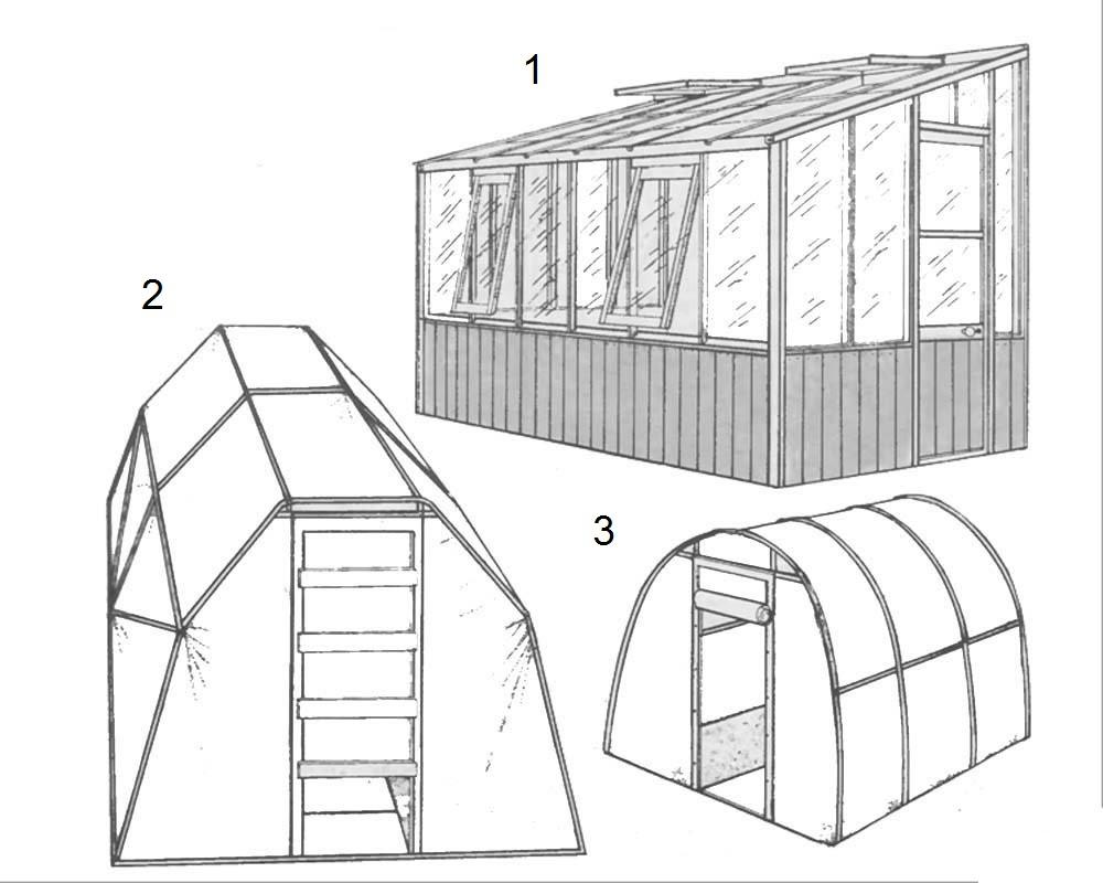 Конструкции стационарных теплиц