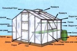 пример устройства стационарной теплицы домиком