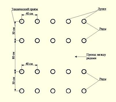 Традиционная схема посадки