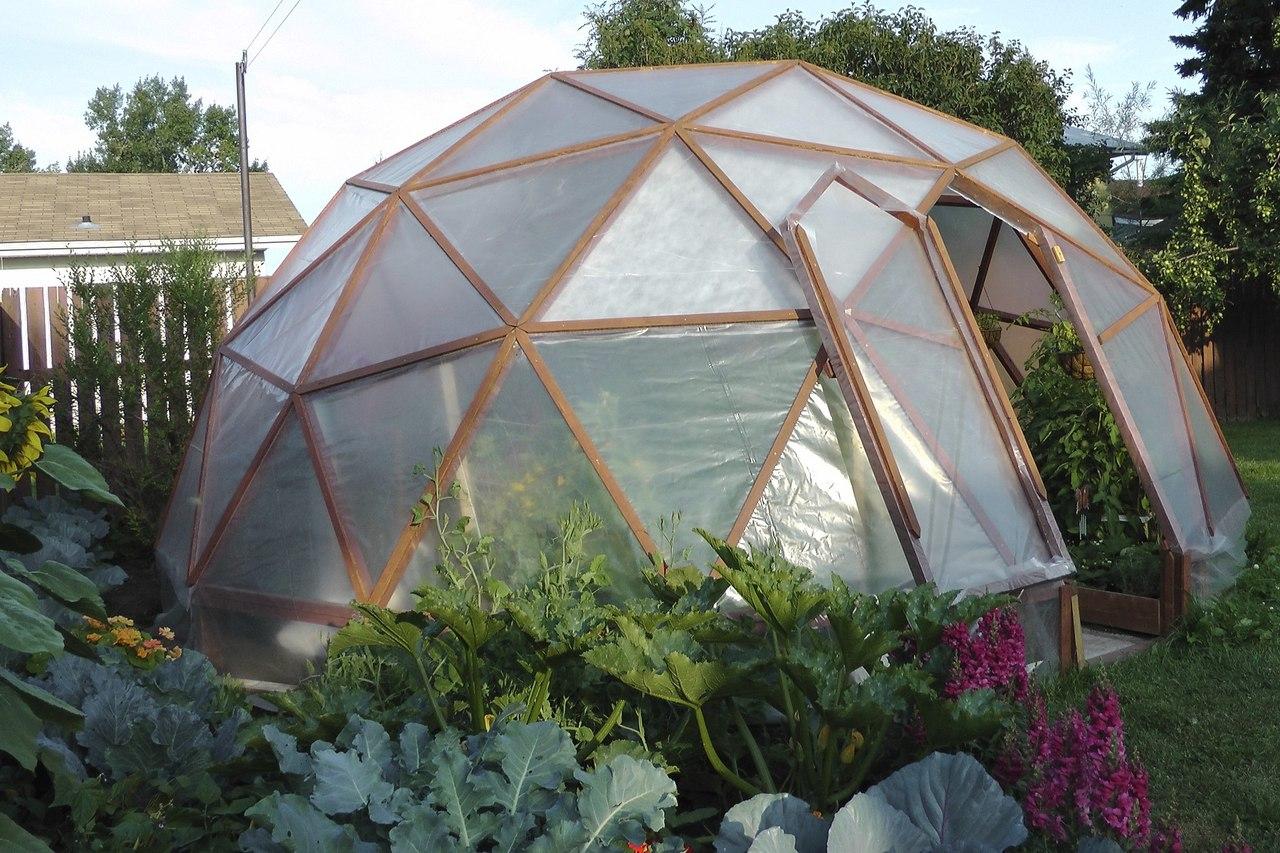 Купольная теплица на садовом участке