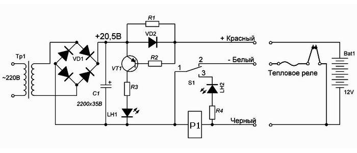 Схемы зарядных устройств для шуруповёрта своими руками