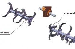 Схема крепления фрез к мотокультиватору
