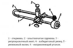 Схема стержневого плиткореза