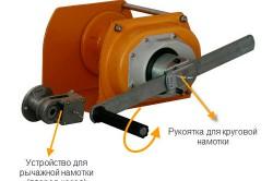 Принцип управления ручной лебедкой