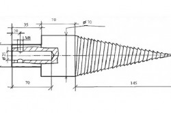 Размеры конуса дровокола