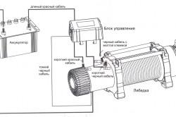 Схема подключения самодельной лебедки