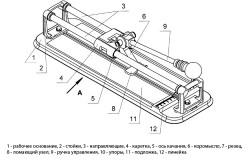 Схема ручного плиткореза