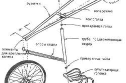 Схема самодельного культиватора - вариант 2