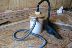 Самодельный строительный пылесос для сухой уборки