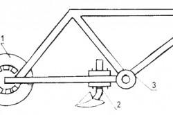 Схема самодельного культиватора - вариант 1