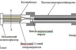 Схема устройства миниатюрного паяльника